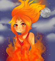 Flame princess by creampuffchan