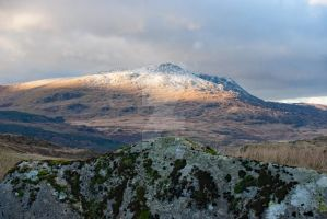Dusting of snow on Moel Siabod by PhantasmagoricPhotos