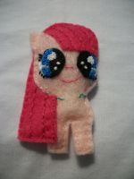 Pinkie Pie Filly Mini Felt Magnet by grandmoonma