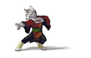 Kung Fun Wolfie by T0xicEye