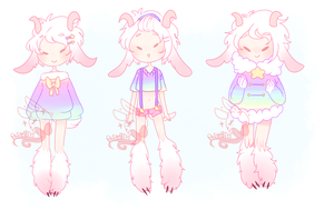 SingleAdopt 028[closed] Goat cutey by PastelBits