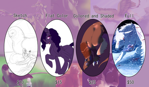 Whitelupine's Commission Price Sheet 2016 by Whitelupine