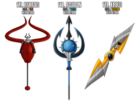 Fakemon: 147 - Legendary weapons - Weapon forms by MTC-Studio