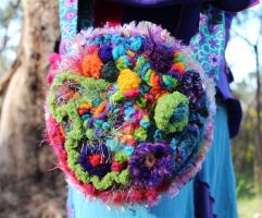 Flower Freeform Crochet Bag by Faeriegem