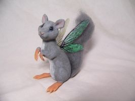 ooak polymer fairy squirrel by AmandaKathryn