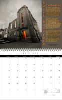 Saint Boniface Cathedral Calendar July by Joe-Lynn-Design