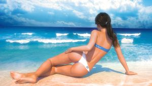 Lorena Kissed by Sun back view by neoanderson79