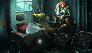 Fox's Garage by Serathus