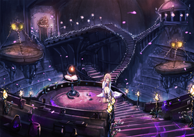 Mystic Library-laboratory by wickedalucard