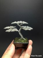 Mame Upright wire bonsai tree by Ken To 9505131 by KenToArt