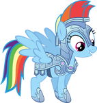 Rainbow Dash-Crystal Pony Armor (Season 3 Teaser) by MysteriousKaos