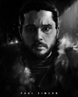 Jon Snow | Game of Thrones : YouTube!! by paulsimeonart