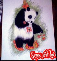 Panda realismo art tattoo by farukpolo