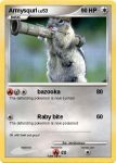 Armysqurl pokemon card by Weirddudeguy