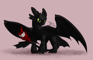 Toothless the Night Fury by lalaraptor