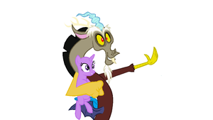 Base 12- Discord and a Pony by MLPFangirl