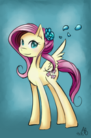 Fluttershy welcomes spring by DreamynArt