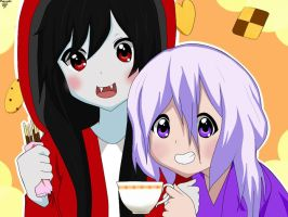 marceline and me thee party by Blueblankcatface