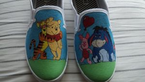Winnie-the-Pooh Shoes by Illicit-Diamonds