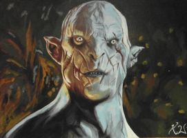 Azog the Defiler from The Hobbit.  Pale Orc. by MojoPimp