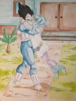 Bulma and Vegeta again by RedEyed2