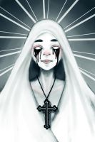 Crying Nun by R-E-N-A-R-T