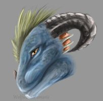 Dragon head by Rashirou