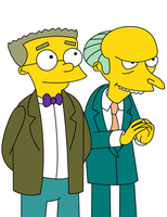 Simpsons: Smithers and Burns by girlperson2235