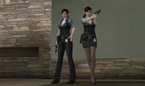 Agent Claire with Pants Version finalize by bstylez