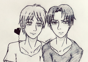 Eren x Levi sketch by geriwiri