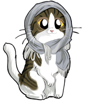 Kitty with scarf by FuriarossaAndMimma