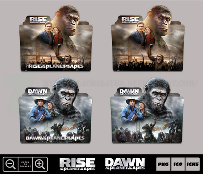Planet of the Apes Collection Folder Icon Pack 2 by Bl4CKSL4YER
