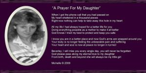 A Prayer For My Daughter by VisualPoetress