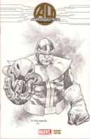 Thanos Ultron by mikitot