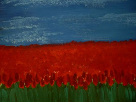 Tulips field by Iewoose