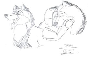 Kitara the wolfhound - sketches. 75 by MortenEng21