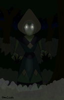 Peridot as the Flatwoods Monster by OmniCicada