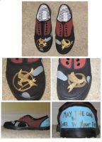 The Hunger Games Shoes by starflash08