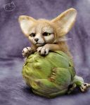 Fennec fox - art doll by LisaToms