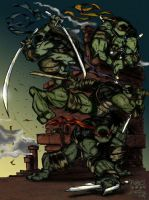 TMNT by RobDuenas colors by Me by LOGAN-AND