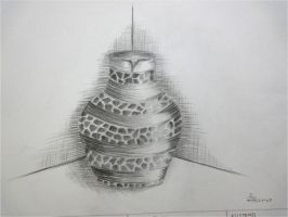 Sketch #3: Textured Pottery by dualiman