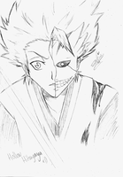Hollow Hitsugaya - Sketch by Garnboll