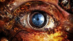 The-mechanism-eye-Wallpaper-1366x768 by andon29