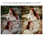 Photoshop vintage red action by lieveheersbeestje