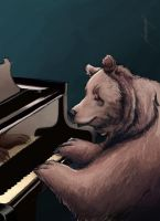 Oso pianista by Meme-candia