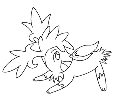 shaymin lineart 1 by michy123