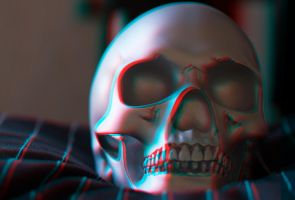 Skull anaglyph by JoelRemy222