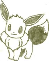 Eevee Sketch by CoolMan666