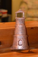Copper Lighthouse tea light holder (in progress) by AutumnDogForge