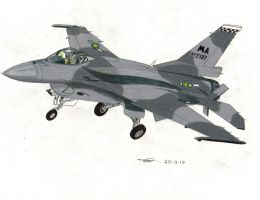 F-16J block 60 Royal Equestrian Air force by TheBebopPilot